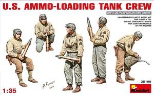 Американский танковый экипаж за погрузкой боезапаса - 35190 MiniArt 1:35