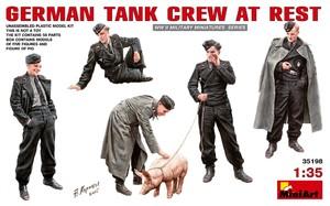 Немецкий танковый экипаж на отдыхе - 35198 MiniArt 1:35