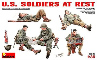 Американские солдаты на отдыхе - 35200 MiniArt 1:35