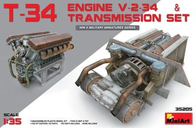 В-2-34 двигатель с трансмиссией - 35205 MiniArt 1:35