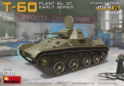 Т-60 легкий танк ранних серий. 35224 MiniArt 1:35