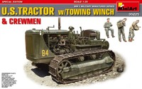 D7 тяжелый трактор с буксирной лебедкой и экипажем - 35225 MiniArt 1:35