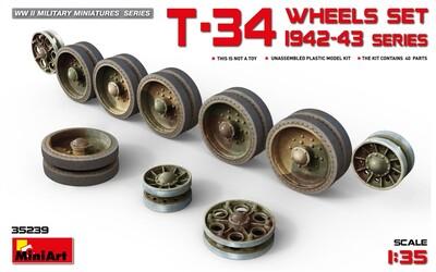Набор катков танка Т-34 1942-43 - 35239 MiniArt 1:35