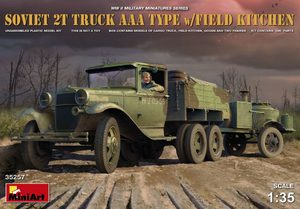 Советский двухтонный грузовой автомобиль с полевой кухней - 35257 MiniArt 1:35