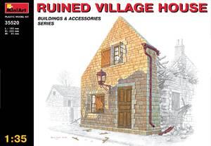 Разрушенный деревенский дом - 35520 MiniArt 1:35