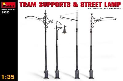 Трамвайные столбы и уличный фонарь - 35523 MiniArt 1:35