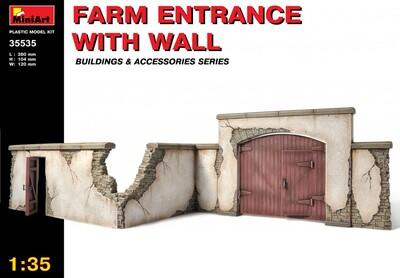 Забор фермы с въездом - 35535 MiniArt 1:35