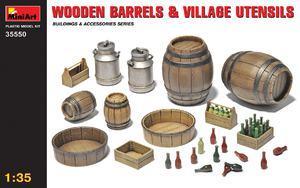 Деревянные бочки и сельская утварь - 35550 MiniArt 1:35