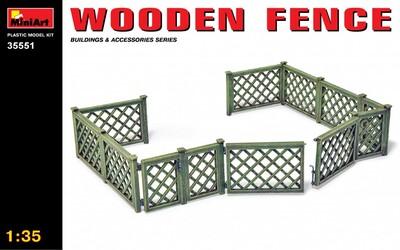 Деревянный забор - 35551 MiniArt 1:35