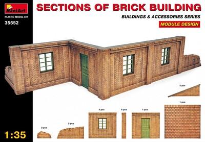 Секции кирпичного здания - 35552 MiniArt 1:35