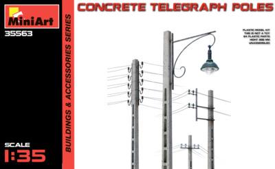 Бетонные телеграфные столбы - 35563 MiniArt 1:35