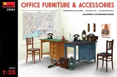 Офисная мебель и аксессуары - 35564 MiniArt 1:35