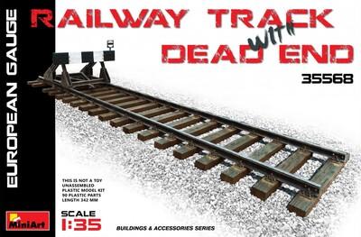 Железнодорожные пути с тупиком европейская колея - 35568 MiniArt 1:35