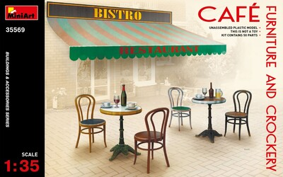 Мебель и посуда для кафе - 35569 MiniArt 1:35