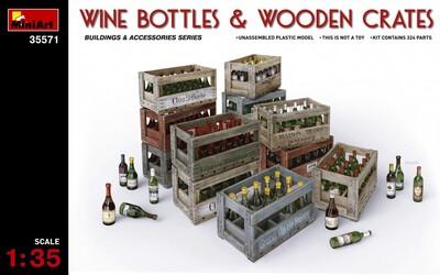 Винные бутылки и деревянные ящики - 35571 MiniArt 1:35