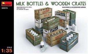 Молочные бутылки с ящиками - 35573 MiniArt 1:35