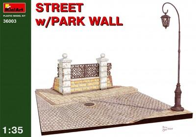 Улица с парковой оградой - 36003 MiniArt 1:35