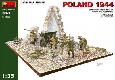 Польша 1944 диорама (здание - ЗиС-2/ЗиС-3 - расчет) - 36004 MiniArt 1:35