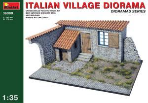 Диорама итальянская деревня - 36008 MiniArt 1:35