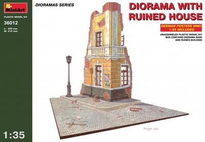 Диорама с разрушенным домом - 36012 MiniArt 1:35
