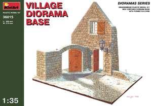 Диорама с деревенским разрушенным домом - 36015 MiniArt 1:35