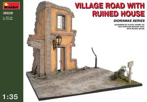 Деревенская дорога с разрушеннным домом - 36020 MiniArt 1:35