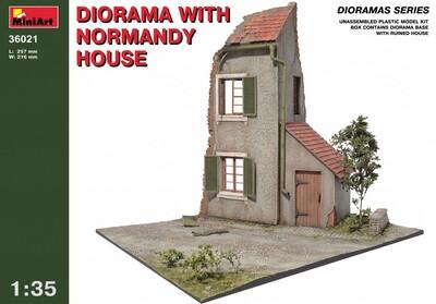 Диорама с нормандским домом - 36021 MiniArt 1:35