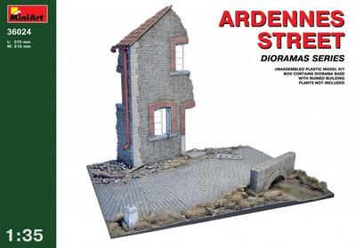 Арденнская улица - 36024 MiniArt 1:35