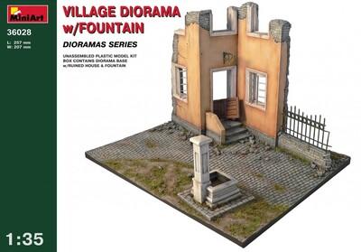 Деревенская диорама с фонтаном - 36028 MiniArt 1:35