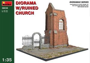 Диорама с руинами церкви - 36030 MiniArt 1:35