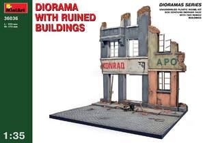 Диорама с разрушенными домами - 36036 MiniArt 1:35