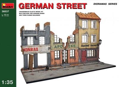Немецкая улица - 36037 MiniArt 1:35