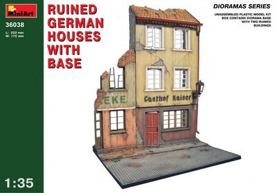 Разрушенные немецкие дома с основанием - 36038 MiniArt 1:35