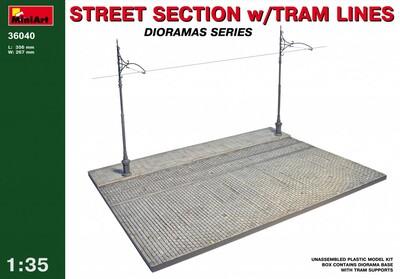 Фрагмент улицы с трамвайными путями - 36040 MiniArt 1:35