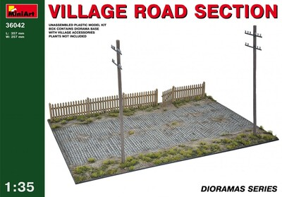Фрагмент деревенской дороги - 36042 MiniArt 1:35