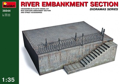Фрагмент речной набережной - 36044 MiniArt 1:35