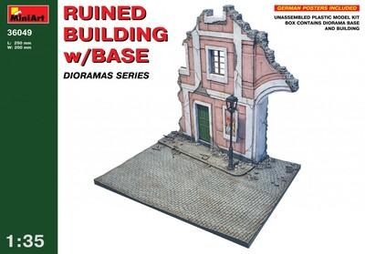 Разрушенный дом с основанием - 36049 MiniArt 1:35