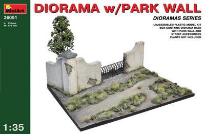 Диорама с парковой стеной - 36051 MiniArt 1:35