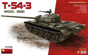 Т-54-3 средний танк образца 1951 - 37015 Miniart 1:35