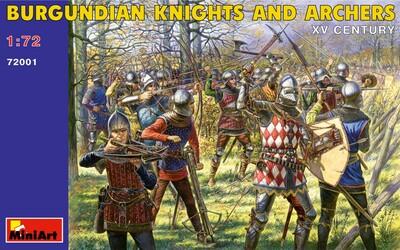 Бургундские рыцари и лучники XV век - 72001 MiniArt 1:72