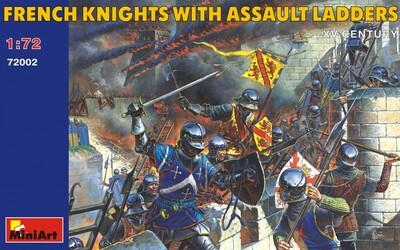 Французские рыцари с осадными лестницами XV век - 72002 MiniArt 1:72