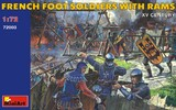 Французские пешие солдаты с таранами XV век - 72003 MiniArt 1:72
