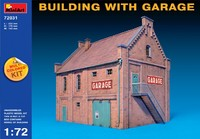 Здание с гаражом. 72031 MiniArt 1:72