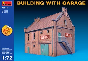 Здание с гаражом - 72031 MiniArt 1:72