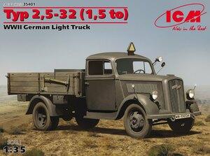 Typ 2,5-32 (1,5 т) легкий грузовик. 35401 ICM 1:35