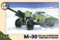 Пушка М-30 и грузовик ЗиС-6. PST 1:72