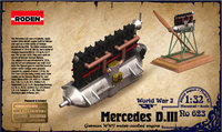 Двигатель Mercedes D.III 160 h.p. 623 Roden 1:32