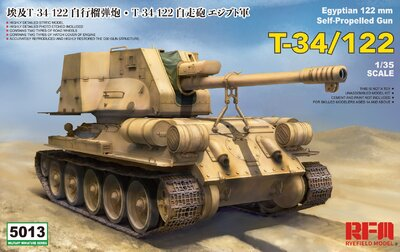 Т-34-122 египетская САУ - 5013 RyeField Model 1:35