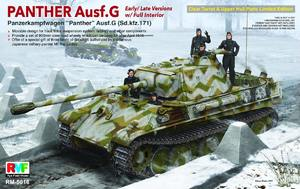 Panther Ausf.G w/full interior clear turret upper hull - RM-5016 RyeField Model 1:35