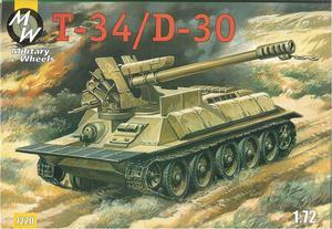 Танк T-34/D-30. Масштаб 1/72